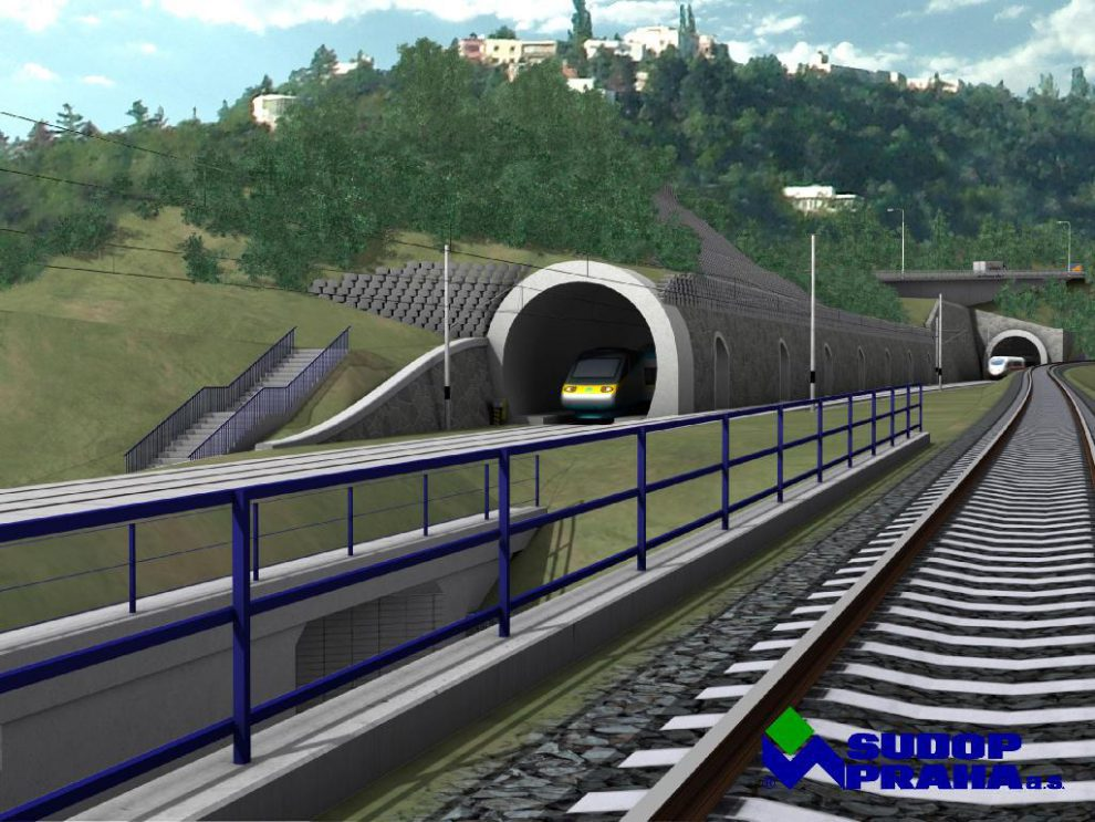 Visualisation of Prague - Beroun tunnel from 2007, source: Sudop Praha